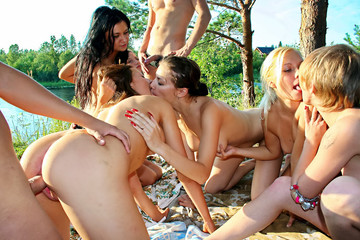 College bitches at the picnic, part 4
