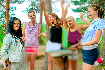 College bitches at the picnic