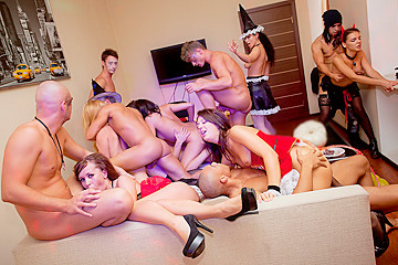 College sex on Halloween party, part 4