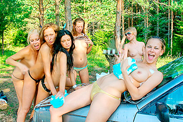 College bitches at the picnic, part 2