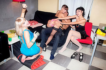 Fake B-day party for horny college chicks