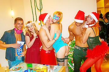 Wild Christmas Sex Party, part 2