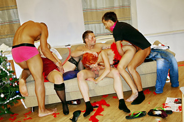 Wild Christmas Sex Party, part 4