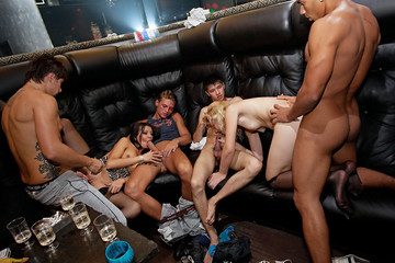 Young college sauna fuck party, part 3